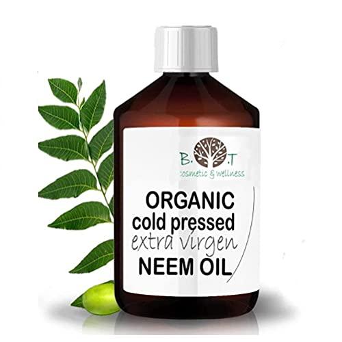 Olio Virgin di Neem puro spremitura a freddo 100% Puro BIO Non raffinato (100 ml) - Anti zanzare, repellente, giardino, problemi di pelle Azadirachtin 3123.32 ppm