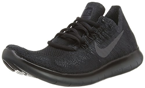 Nike Mens Free RN Flyknit 2017 Low Top, Black/Anthracite-Anthracite, Size 11.0
