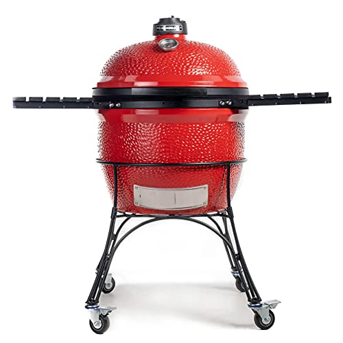 Kamado Joe BJ24RH Big Joe I Charcoal Grill, 24 inch, Blaze Red