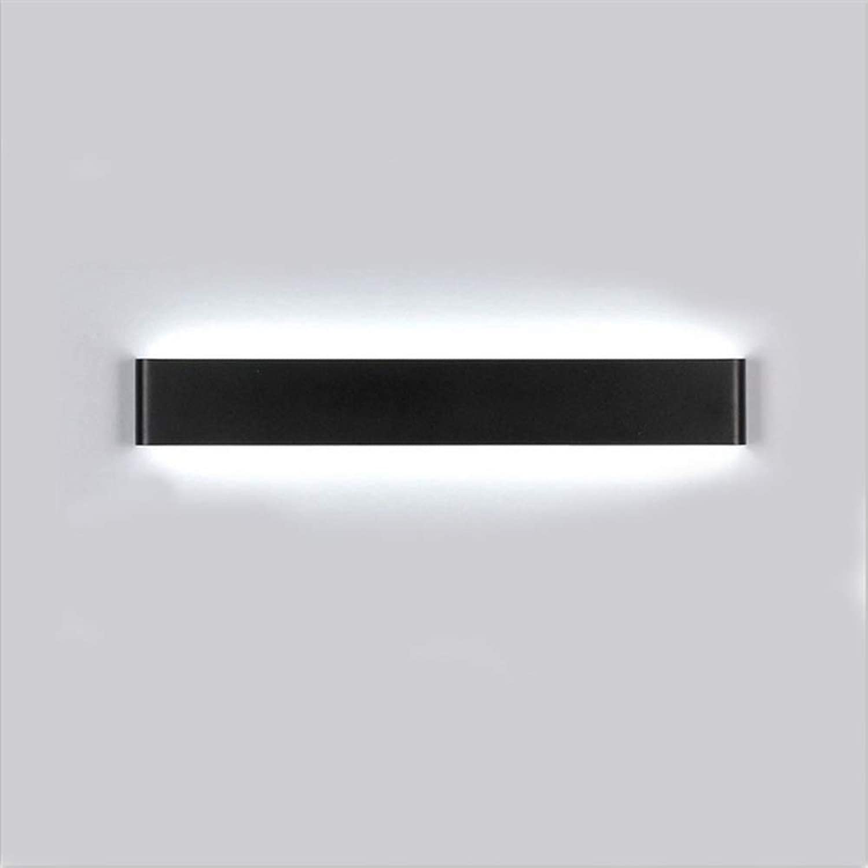 LED-Badezimmer-Waschtischleuchte Auf- und Ablichtung Make-up über Spiegelbeleuchtung Wandleuchten Wandleuchte Beleuchtung (Farbe  Schwarz, Gre  51 cm, 16 W)