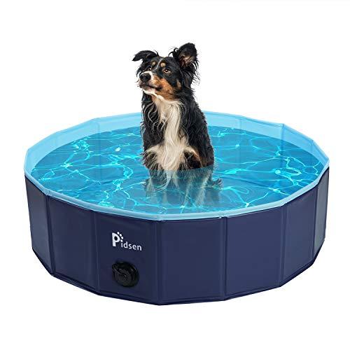 Pidsen Foldable Pet Swimming Pool Portable Dog Pool Kids Pets Dogs Cats Outdoor Bathing Tub Bathtub Water Pond Pool & Kiddie Pools (47.2''.D x 11''.H, Orange)