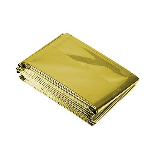 Shaple Cobijas térmicas de emergencia de película de aluminio EVA | Herramienta de supervivencia, manta de camping, perfecta para exteriores, senderismo, camping, dorado