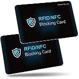 Carte Anti RFID, Befekt Gears [ Lot de 2 ] Carte de Blocage RFID/NFC Protecteurs de...
