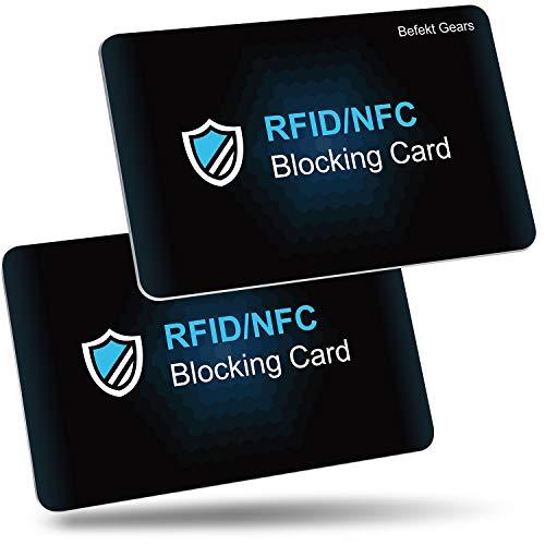 Carte Anti RFID, Befekt Gears [ Lot de 2 ] Carte de Blocage