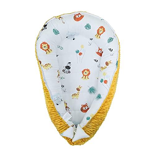 Colchón reductor para cuna de bebé, de algodón, con tela Minky