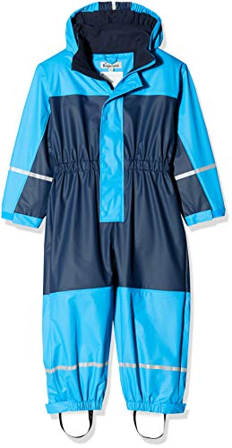 Playshoes Jungen Regenjacke Regen-Overall, Regenanzug mit Fleece-Futter, Blau (Marine 11), 116