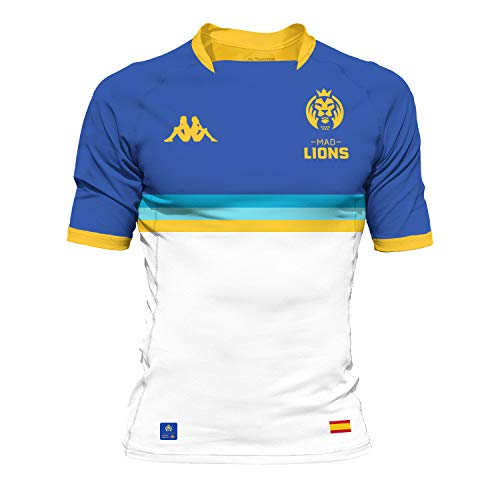 Kappa X MAD Lions Jersey Oficial 2020 Camisa, Hombre, Blanco/Azul, M