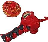 OBEST Peonzas con Lanzador Juguetes, Turbo Battling Burst Gyro Spinners y Launcher con Dashboard con Valor de Potencia, Regalos o Juguetes para Niños