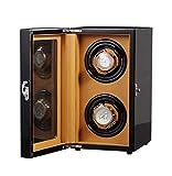 KAIBINY Caja de Reloj Madera automática Watch Winder Doble rotación devanaderas Premium silencioso Motor Pine Box 5 Modos Modo 2-27 Fuente de alimentación × 18,8 × 15 cm de