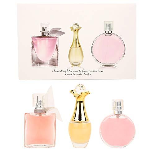 Kit de perfume para mujer de 3 piezas, juego de perfume de fragancia natural para dama de larga duración con diferentes aromas de frutas, juego de Colonia