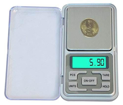 zhart Mini Accuracy Jewelry Electronic LCD Digital Balance Pocket Weighing Scale (200 to 0.01 g, Silver)