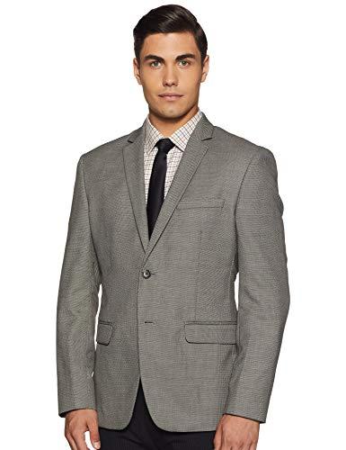 Park Avenue Men's Notch Lapel Slim fit Blazer (PMJL02273-K7_Grey_108)