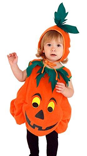 EOZY-Costume da Pumpkin Costume cosplay di Halloween Carnevale Costume da Zucca con cappello per Bambini Ragazzi 3-6 anni (Altezza 95-110CM)