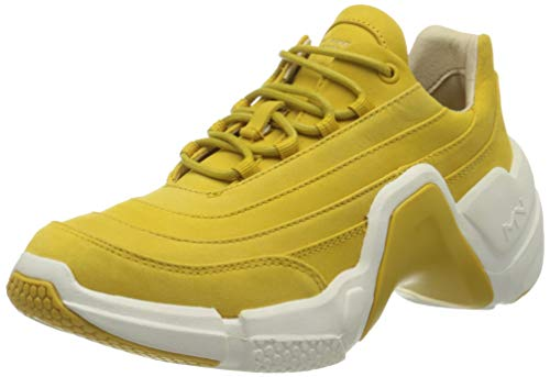 Skechers Damen Neo Block Carmen Sneaker, Gelb, 39 EU