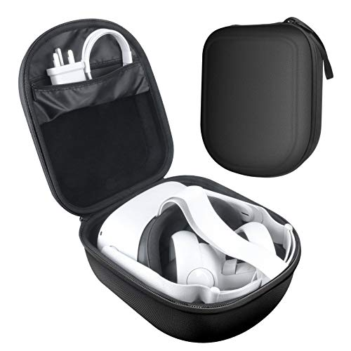 MASiKEN Carrying Case for Oculus Quest 2 Headset and Controllers, Portable Oculus2 Case Fit Girls, Hard Shell Lightweight Protective Cover Travel Case (Black)