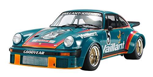 TAMIYA 12056-000 1:12 Porsche 934 Vaillant, originalgetreue Nachbildung, Modellbau, Plastik Bausatz, Basteln, Hobby, Kleben, Modellbausatz, Zusammenbauen, unlackiert