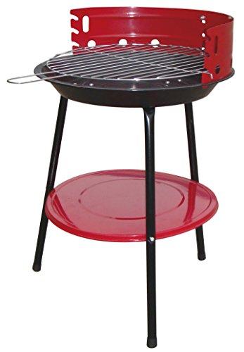Bcalpe 11935–Barbecue Carbone, 36x 36x 7cm, Colore: Rosso/Nero