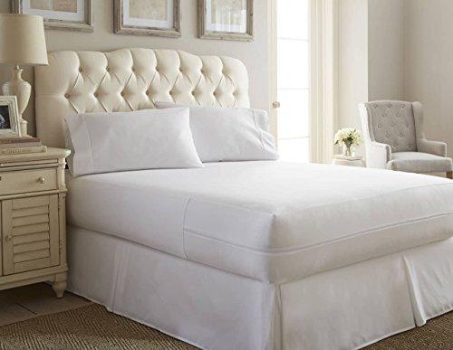 Simply Soft Protector de colchón para Insectos de Cama Premium, Contemporáneo, Blanco, Doble, 1, 1