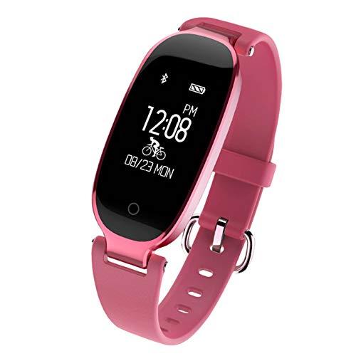 YYZ Nuevo S3 Smart Watch es Adecuado para Apple iPhone IOP iOS Android Ladies Bluetooth Bluetooth Rastreador de corazón SmartWatch,E