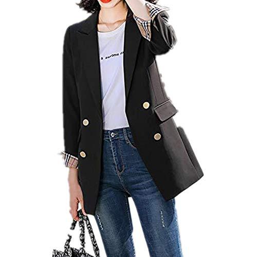 U/A Plaid Suit Coat Primavera y Otoño Nuevo Casual Plaid Suelta la parte superior de las mujeres