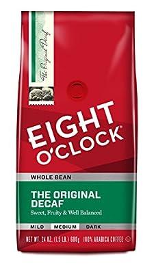 Eight O'Clock Whole Bean Coffee, The Original Decaf, 24 Ounce