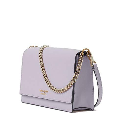 Kate Spade New York Leather Cameron Convertible Crossbody Handbag Clutch, Icy Lavender
