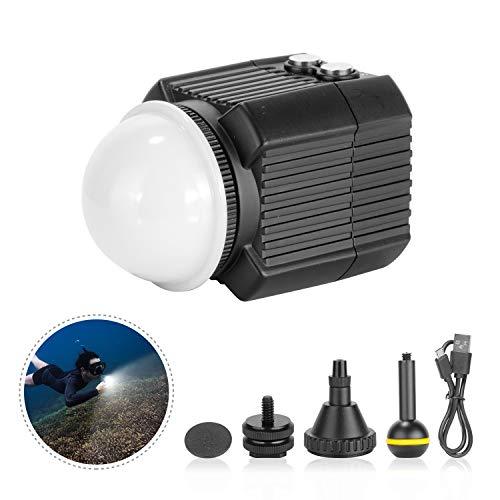 Newer Unterwasserlicht Tauchlampe Einfülllampe 60Meter wasserdichte LED Videoleuchte mit 5 Modi Kompatibel mit Yuneec Drohnen DJI Osmo Pocket Osmo Action GoPro 7/6/5 Canon Nikon