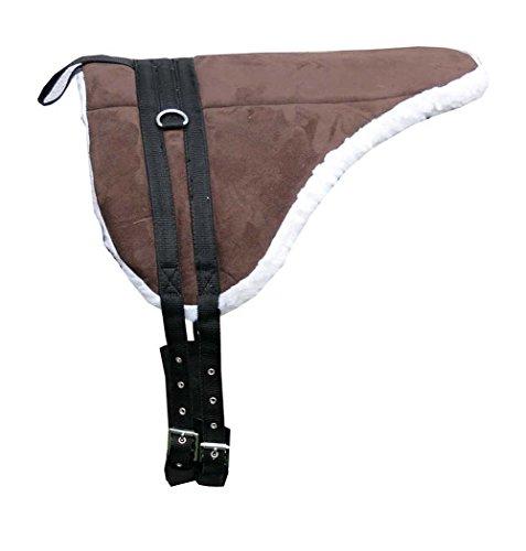 AMKA Shetty Pony Sattel Reitkissen Reitpad Reitunterlage mit Sattelgurt auch für Holzpferde Bareback Pad baumlos
