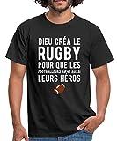 Dieu Créa Le Rugby T-Shirt Homme, 3XL, Noir