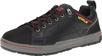 Caterpillar Men s Brode Steel Toe Work Shoe,Black Leather,10 M US