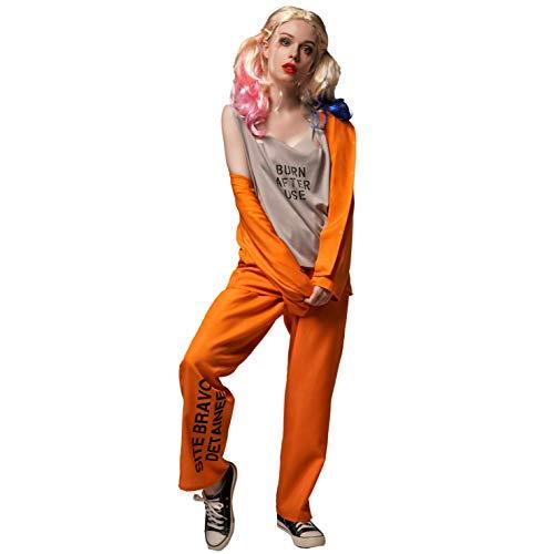 DSplay Cooles Gefangenen-Kostüm für Damen - Orange - Medium
