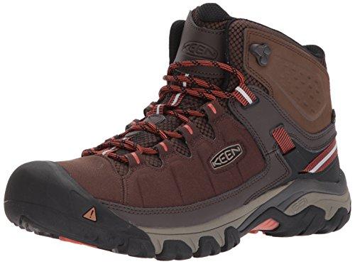 KEEN Utility Men's Targhee EXP MID WP Hiking Boot, Mulch/Burnt Ochre, 9.5 M US