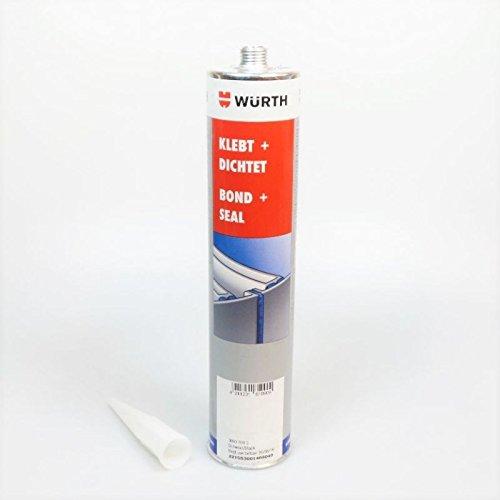 Würth Konstruktionsklebstoff Klebt + Dichtet schwarz 300ml