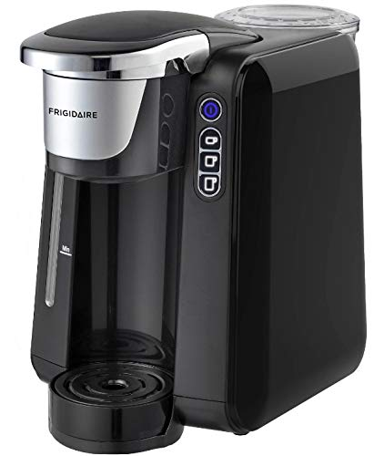Frigidaire ECMK205 Coffee Brewer for K-Cup Pod & Ground Coffee, Single Serve Maker - XL Size, Ideal for Tight Places on Countertops or Office Tables, Premium Black