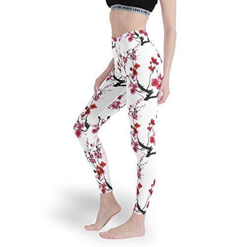 Mädchen New Geometry Print Leggings Weich Yoga Hosen Yoga Design Capris Tights für Sport White 4XL