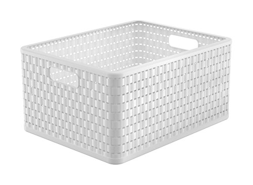 Rotho Country Aufbewahrungskiste 28l, Kunststoff (PP), Weiß, A4+/28 Liter (43 x 33 x 21,5 cm)