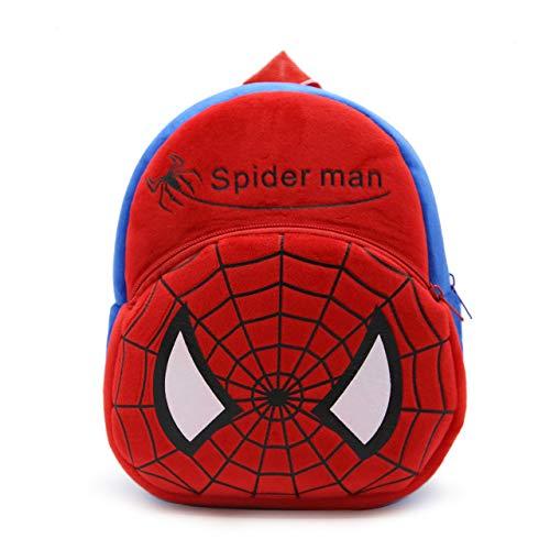 Blue Tree Cute Kids Backpack Toddler Bag Plush Animal Cartoon Mini Travel Bag for Baby Girl Boy 1-6 Years (Red-Spider)