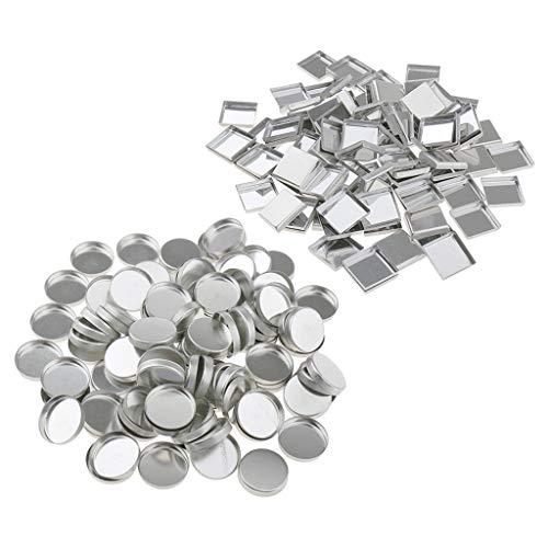 200-teilig Leere Metall Pfännchen für Magnetische Kosmetische DIY Palette Lidschatten Palette...