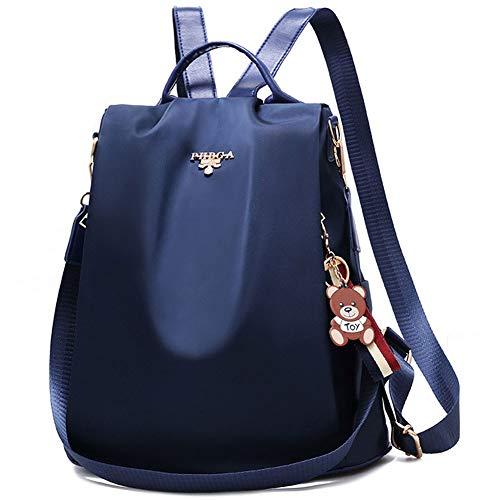 Women Backpack Purse Waterproof Anti-theft Daypack Lightweight School Shoulder Bag (Blue)