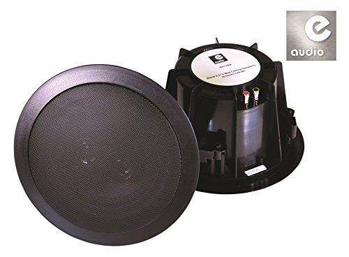 E-Audio - Altavoces de pared para techo (doble offset, 2 vías, resistentes al agua, 6 pulgadas, 8 ohmios, 120 W, 2 vías)