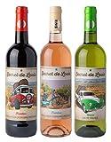 Coffret Bouteilles Etiquettes Vintage de 1 Vin Rouge / 1 Vin Rosé / 1 Vin Blanc