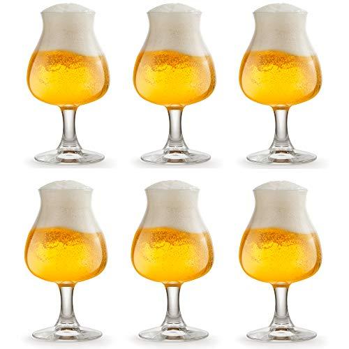 Libbey Iseo Bierglas - 26 cl / 260 ml - 6 Stück - mit Fuß - hohe Qualität - ideal zur Bierverkostung