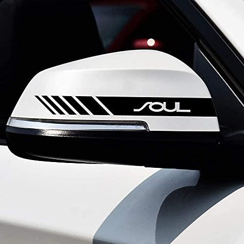 2 Piezas Coche Pegatinas Espejo Retrovisor Juego Pegatinas Estilo Pegatina, para Kia Soul Car Styling