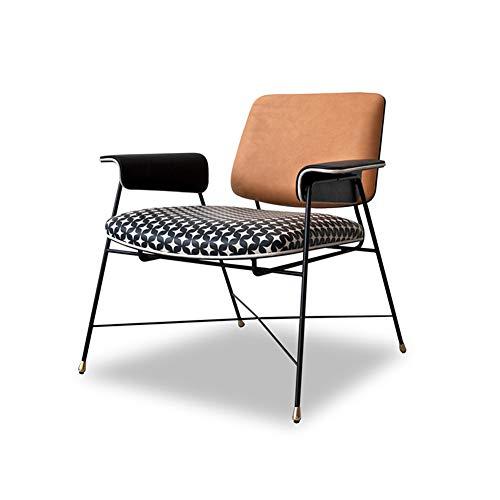 Sillón Individual de Tela, sillón Ligero, Esqueleto de Metal, Esponja de Alta Densidad-3