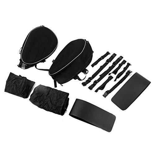 Bolsa de sillín lateral impermeable Útil accesorio de motocicleta Bolsa de sillín lateral Negro para coche