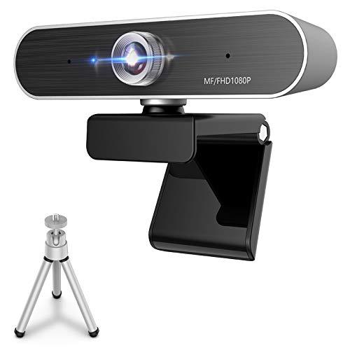IUANUG Cámara Web USB con micrófono, cámara Web de transmisión HD 1080P con Cubierta de privacidad y trípode para conferencias de Escritorio y portátiles