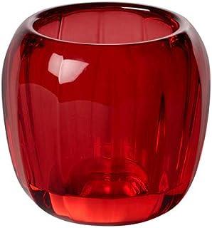 Villeroy & Boch Coloured DeLight Portavelas Deep Red, 7 cm, Vidrio de cristal, Rojo