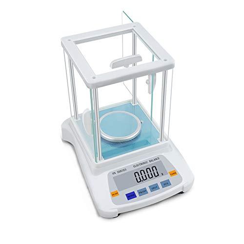 ZCY ES1008 Elektronische weegschaal, preciso laboratoriumanalyse balans, 8 eenheden met LCD, glasplaat, sieraden, industriële weegschaal met platform, druk & PCS-functie