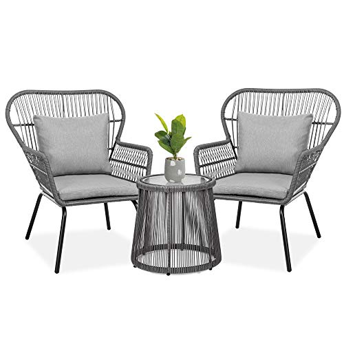 Best Choice Products 3-Piece Patio Conversation Bistro