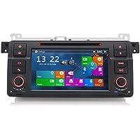 ERISIN Autoradio de 7 Pulgadas para BMW Serie 3 E46 M3 3er 320 Rover 75 Soporte de Reproductor Multimedia Bluetooth Navegación GPS Sat Nav USB Soporte SD SD 3G Internet Coche DVR